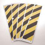 Grip Foot Aluminium Stairtread 625Mm X 114Mm Black/Yellow (Pack Of 5)