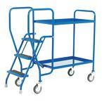 Order picking tray trolleys