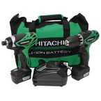 2 Piece Hitachi 10.8V Li-Ion kit