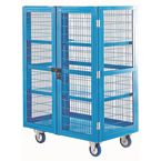 Mobile storage shelving, with doors