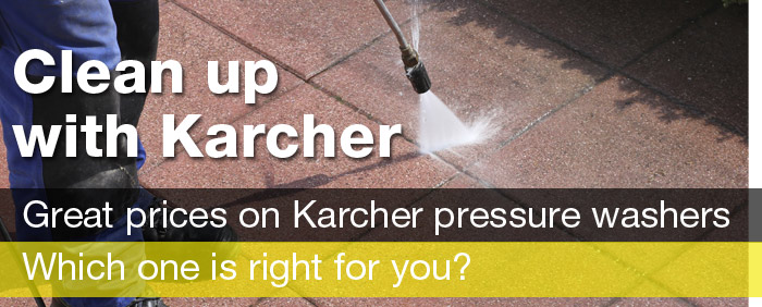 Clean up with Karcher