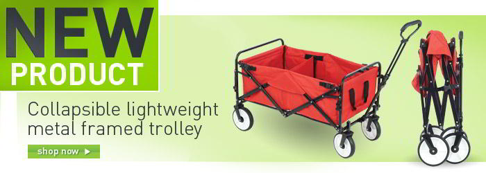 Collapsible lightweight metal framed trolley
