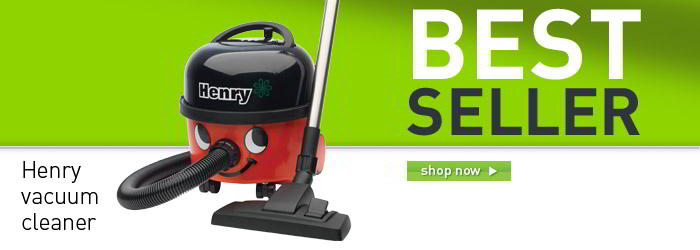 Henry vacuum cleaner banner