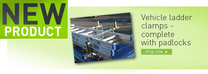 Lockable ladder clamps banner