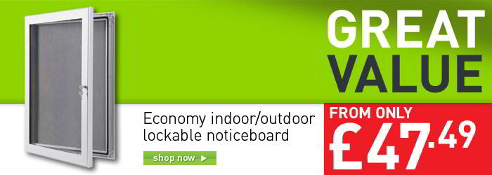 Economy Indoor/Outdoor lockable felt noticeboard banner