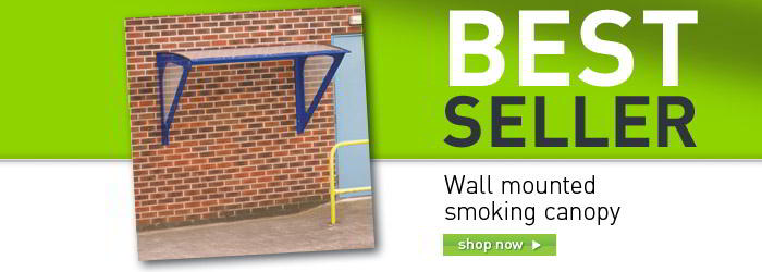 Wall mounted smoking canopy banner