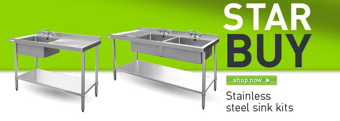 Stainless steel kitchen sink kits banner