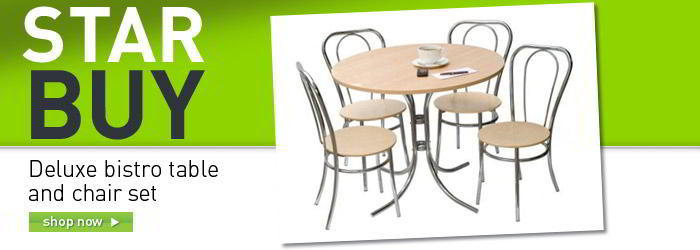 Deluxe bistro table and chair set banner