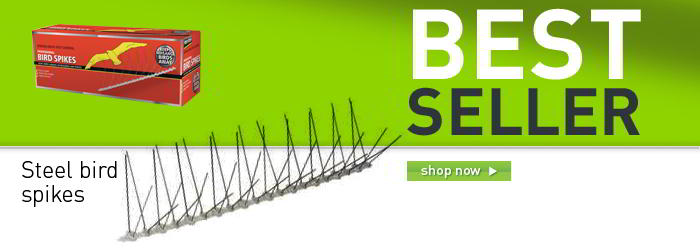 Steel bird spikes - 10 pack banner
