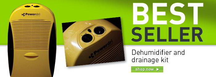 Dehumidifier and drainer kit banner