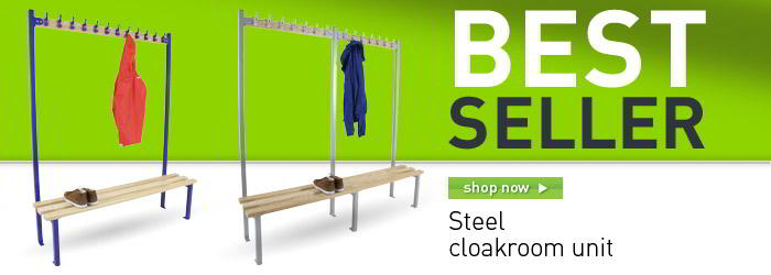 Steel cloakroom unit banner