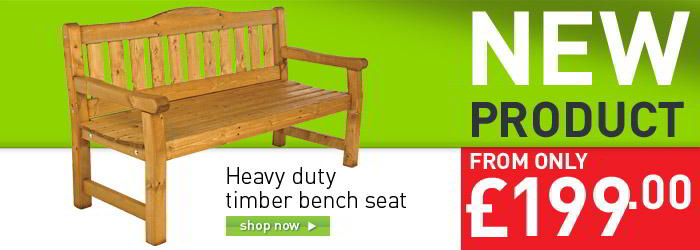 Heavy duty timber bench seat banner