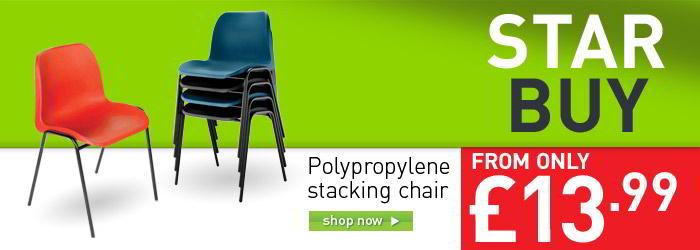 Polpropylene stacking chair banner