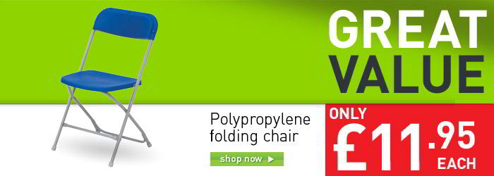 Polypropylene folding chair banner