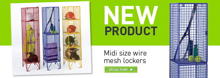 Wire mesh lockers banner