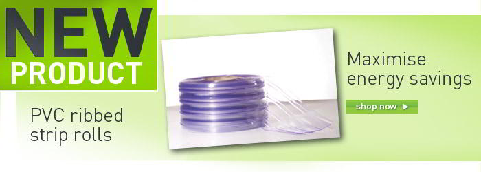 PVC ribbed strip rolls