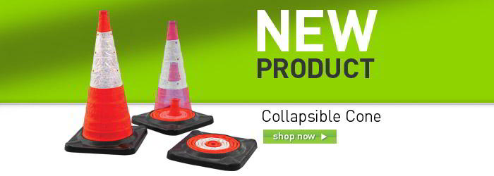 Collapsable cone banner