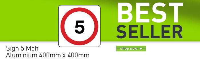 General traffic signs - 5 mph banner