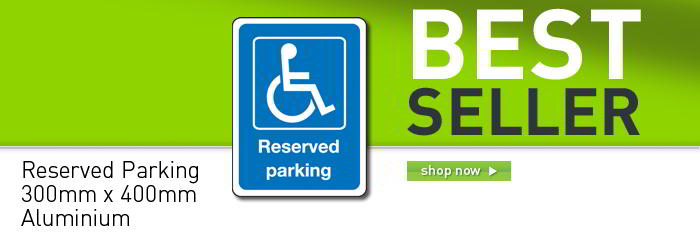 Reserved disabled parking sign banner