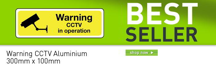 Warning CCTV in operation sign banner