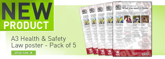 A3 Health & Safety Law poster - Pack of 5 banner