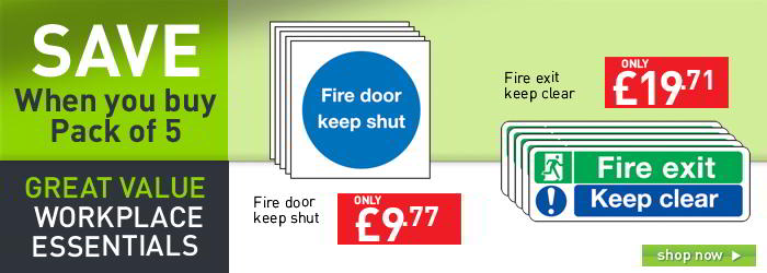 Fire door keep shut sign - Pack of 5 banner