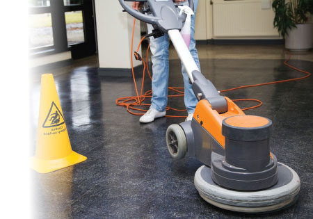 Floor polishers at Slingsby