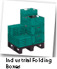 Industrial folding boxes