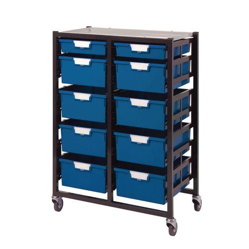 7 X 10 Storage Unit: 10 Tray Blue A4 8 Deep+ 2 Shallow