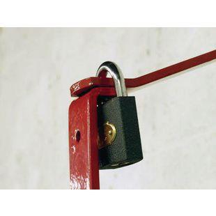 Lockable ladder wall mounting brackets