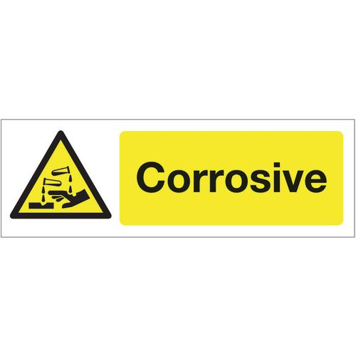 Chemical and substance hazard signs - Corrosive