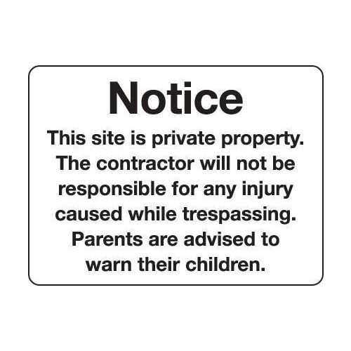 Notice this site is private property...