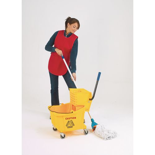 Large mobile mop with wringer