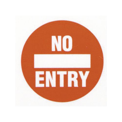 Floor graphic markers - No entry