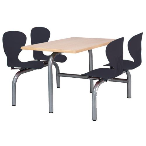Polypropylene canteen seating unit