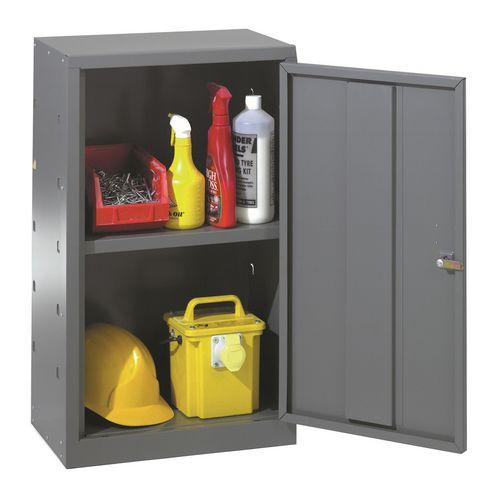 Tool cupboards, single dark grey door, body and 1 shelf