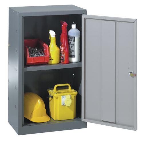 Tool cupboards, single dark grey door and 1 shelf