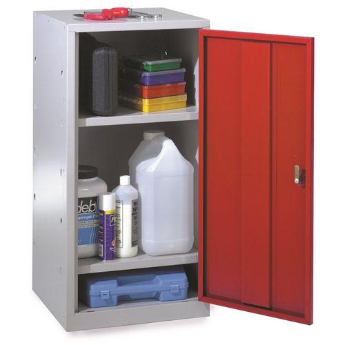 Tool cupboards, single red  door and 2 shelves