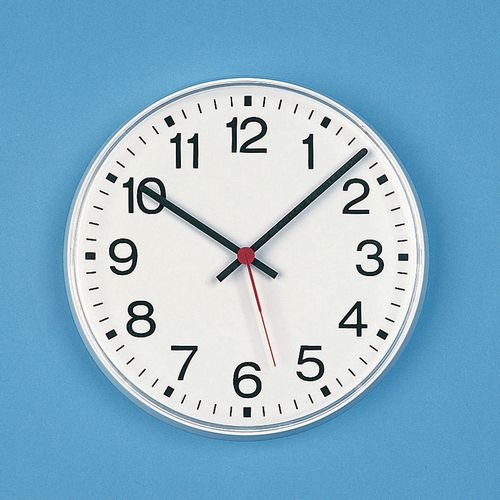 Wall Wall clock - commercial quartz with second hand