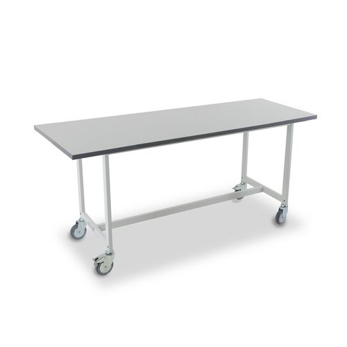Heavy duty mailroom benches - Mobile bench,  H x D - 750 x 1500mm