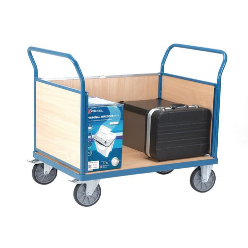 Fetra snag-free platform trucks with two panel ends and one side, 1200 x 800mm