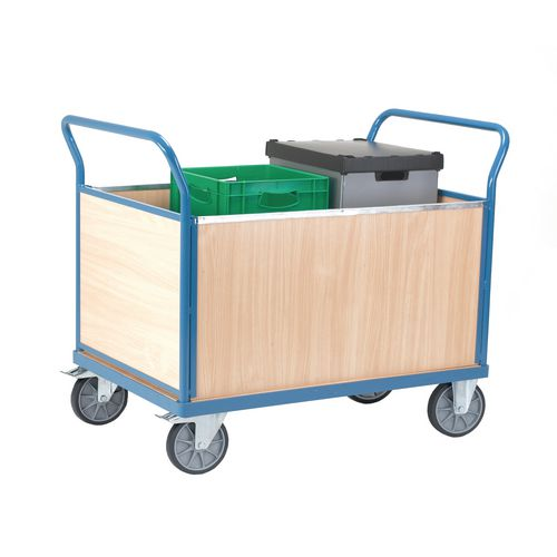 Fetra snag-free platform trucks with two panel ends and two sides, 1200 x 800mm