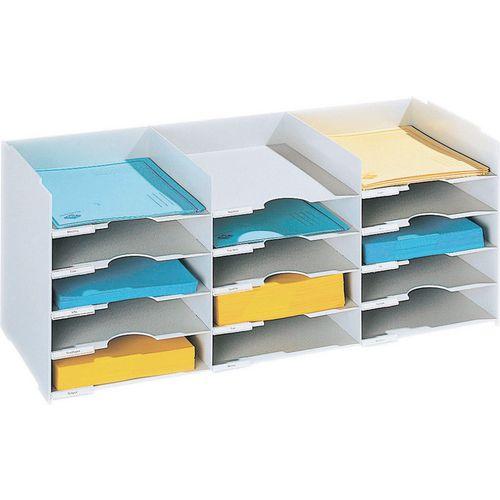 Desk Tidies HORIZONTAL ORGANISER 15 TRAY TO FIT TAMBOUR UNIT FP49001