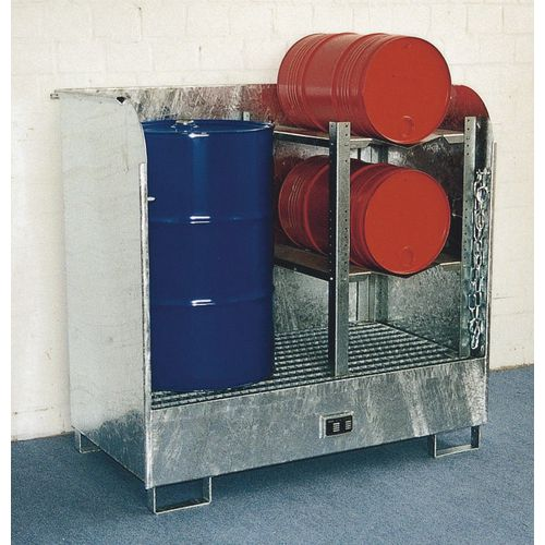 Galvanised hazardous materials depot - Open design