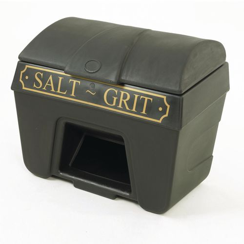 200L Victoriana salt and grit bins - With hopper feed