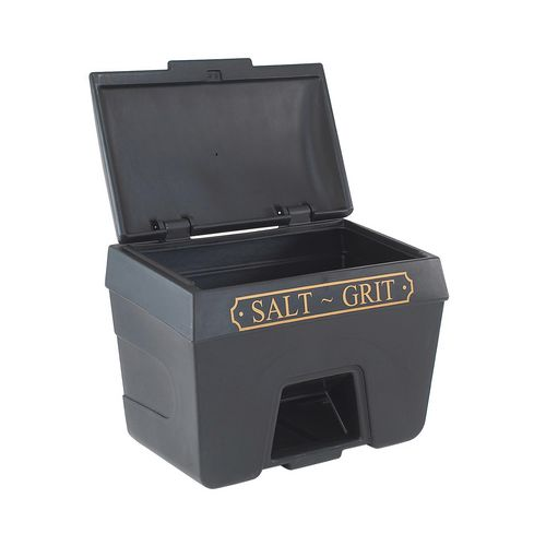 400L Victoriana salt and grit bins - With hopper feed