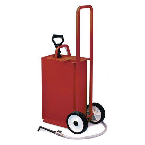 Heavy duty gear oil bucket, with trolley