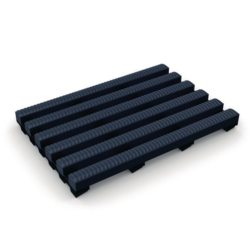 Heronrib® anti-microbial wet area slip resistant matting - Blue, 10m x 500mm roll