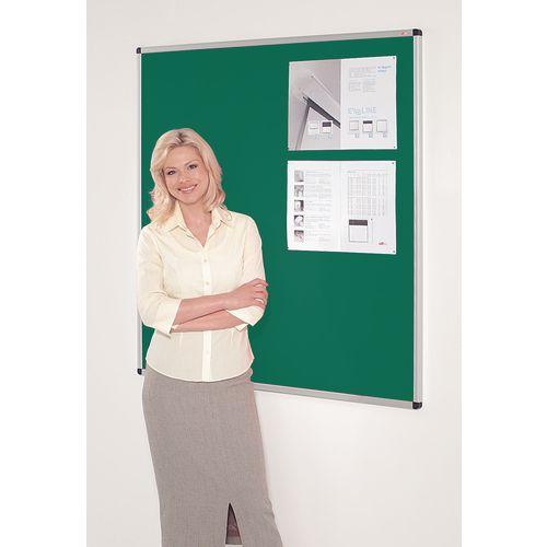 Fire resistant premium office noticeboards - green
