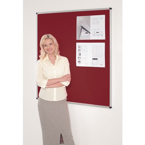 Fire resistant premium office noticeboards - red
